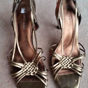 Anne Klein Bronze Sandals